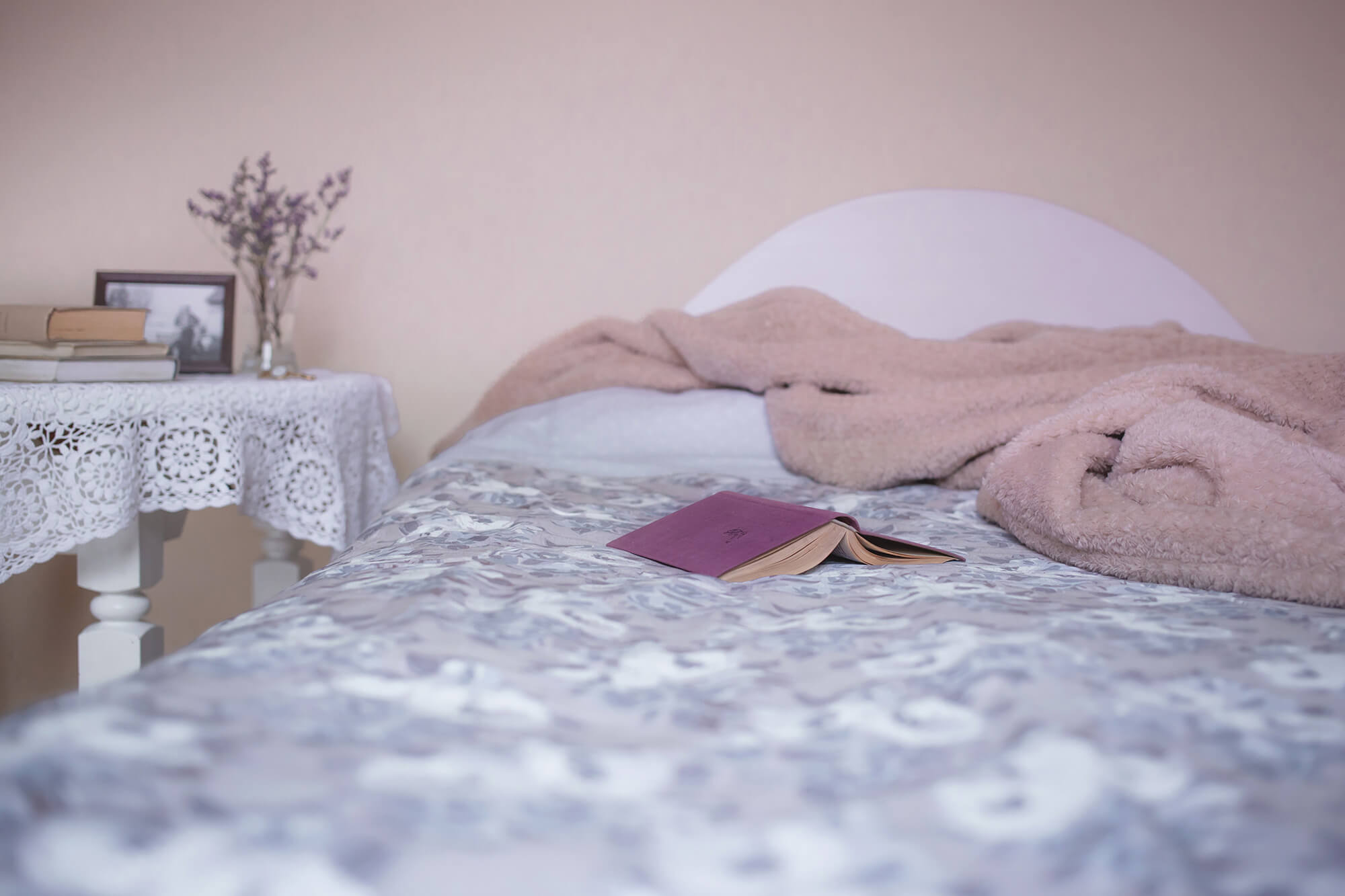 Bed with Book