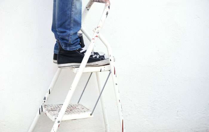Standing on a Ladder
