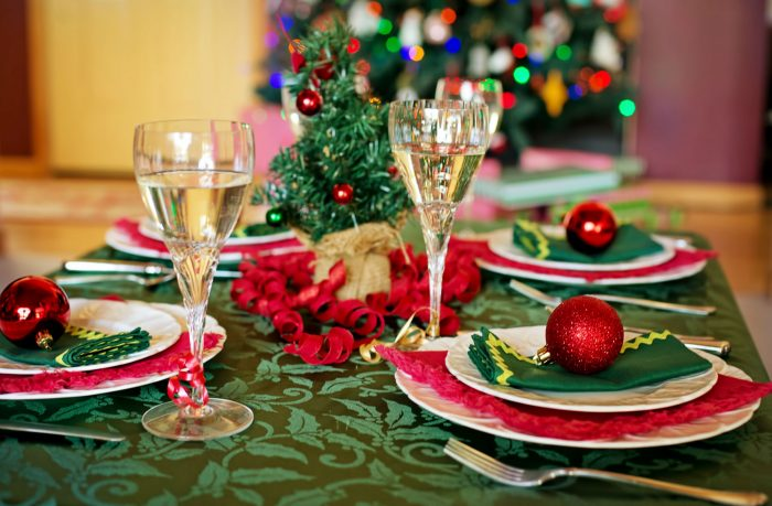 Christmas Table Decorated for the Holidays in Saskatchewan