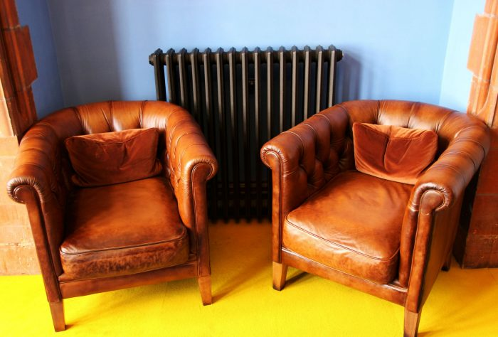 Two Leather Chairs that Could have Bed Bugs in them