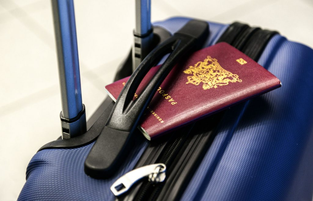 Luggage and a Passport